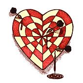 Clip art of heart shaped bullseye k18238476 search clipart target shaped heart with arrows emblem thecheapjerseys Gallery