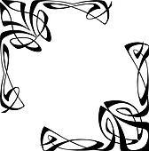 clip art of art deco corners k3222828 search clipart rh fotosearch com art deco clip art ladies art deco clipart black and white