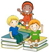 Bücherei clipart  Stock Illustrations of Kids with Books k4605520 - Search Clipart ...
