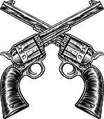 Clip Art of , colt 45, gun, revolver, six shooter, weapon ...
