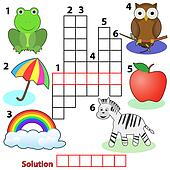 crossword words game for children