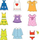 Clip Art of Girl clothes k6800538 - Search Clipart ...