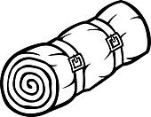Clip Art Of Sleeping Bag K18869216
