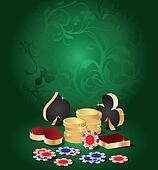 Vector illustration  casino theme