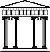 Clipart Of Vector Ancient Greek Architecture K8520862