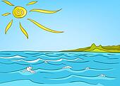 clipart of cartoon nature landscape sea k9131940 search spring season clipart spring season clip art images