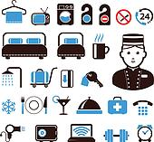 Clipart Of Hotel Staff Vector Set K24706405