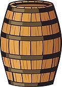 Clip Art of old barrel (wooden barrel) k11097316 - Search ...