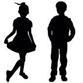 clipart of fashion kids k15489193 search clip art illustration rh fotosearch com fashion show clipart fashion show models clipart