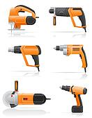 Clipart Of Electric Tools K7158383