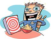 Stock Illustration of little boy eating cereal tow0027 ...