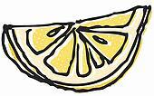 Stock Illustration Of Lemon And Slice Black White