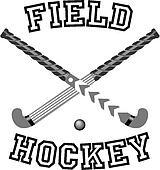 Field Hockey Sticks Crossed