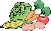 Clipart of Protein Food Group u11081101 - Search Clip Art ...