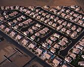 Aerial View of Las Vegas Homes