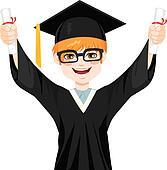 clipart of nerd student graduation boy k24936872 search clip art