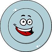 clipart gl cklich blauer teller mit a lachender gesicht k18376110 suche clip art. Black Bedroom Furniture Sets. Home Design Ideas