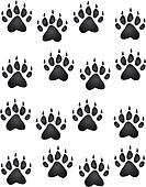 Clipart Of Bear Paw Print K1915524 Search Clip Art Illustration