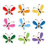 Clipart Schmetterling Satz Für Dein Design K2294334 Suche