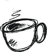 Stock Illustrationen Hand Gezeichnet Tasse Kaffee K22062810