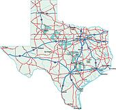 Road Map Of Texas State.Texas State Road Map Clip Art K3031348