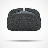 Clip Art of Russian black winter fur hat ushanka. k23564568 - Search ... 5826457517bf