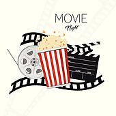 clip art of cinema and movie night illustration background two rh fotosearch com movie night clip art free black and white movie night clip art free