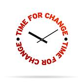 Time For Change Clock Stock Illustration | k6742276 ...