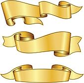 clip art of gold ribbon collection k8645608 search clipart