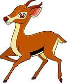Gazelle dessin anim clipart k9290302 fotosearch - Gazelle dessin ...