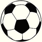 Fussball Ball Silhouette Isolierung Clipart K9413454