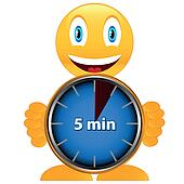 clipart of five minutes with smile k10355740 search clip art