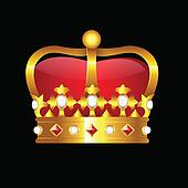 Golden Crown Clipart K10700504 Fotosearch Vector illustration set of cartoon crown silhouettes available in ai/eps and svg formats to fit the needs of your project. golden crown clipart k10700504