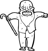 Clipart Of Cartoon Bearded Old Man K15562122 Search Clip Art