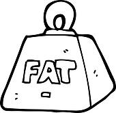1 Ton Weight Cartoon