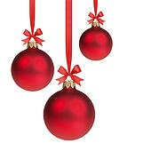 stock foto drei rot weihnachten kugeln h ngen. Black Bedroom Furniture Sets. Home Design Ideas