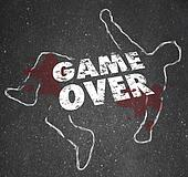 Stock Illustration Of Game Over Body Chalk Outline Dead Person