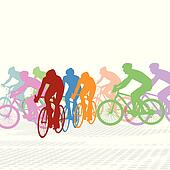 clip art of group of cyclist k17014036 search clipart rh fotosearch com Cute Bike Clip Art LEGO Clip Art